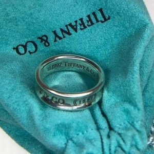 Tiffany & Co. 1837 Sterling Silver 925 Ring 9